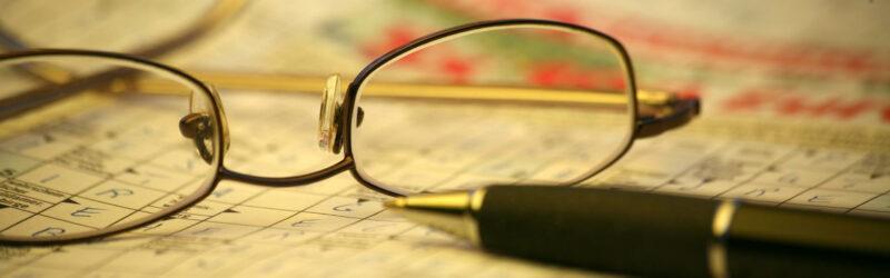 Rätsel und Brille