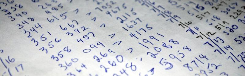 Zahlenkolonnen