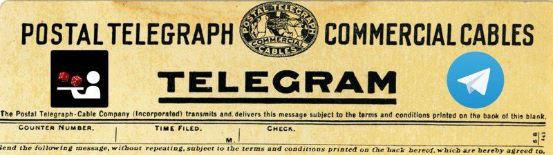 Telegramm mit Logos