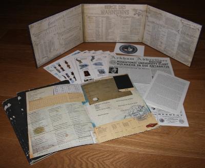 Kleine Auswahl des umfangreichen Zubehörs für die Antarktisexpedition
