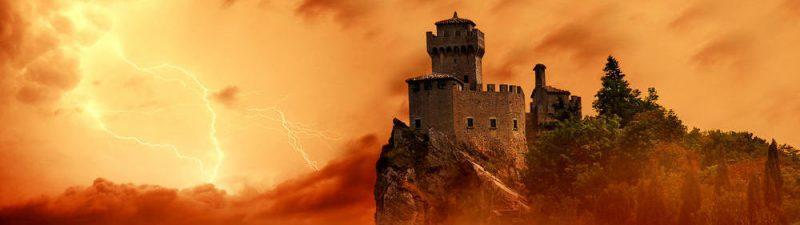 Burg in rot