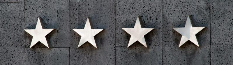 Sterne als Bewertungseinheit bei Rezensionen