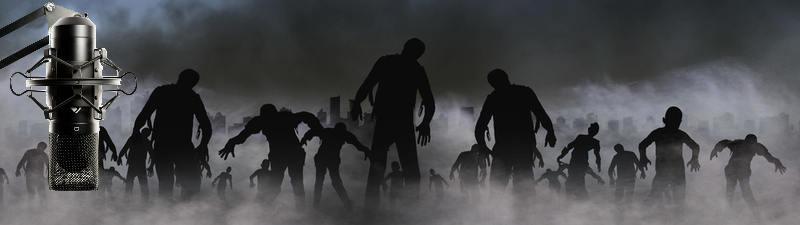 Zombies und Mikrofon