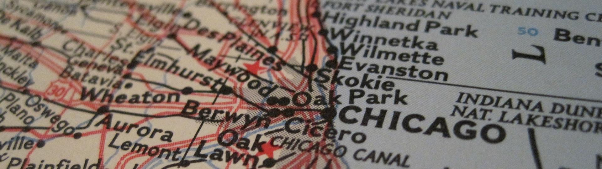 Karte von Chicago