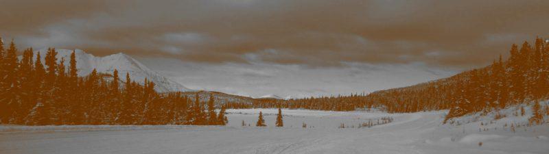 Schneelandschaft Alaska auf alt und düster getrimmt