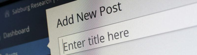 Wieviel Blog darf es sein?